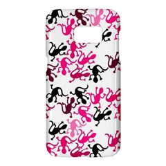 Lizards pattern - magenta Samsung Galaxy S7 Hardshell Case