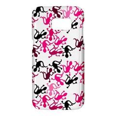 Lizards pattern - magenta Samsung Galaxy S7 Hardshell Case