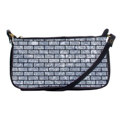 Brick1 Black Marble & Gray Marble (r) Shoulder Clutch Bag