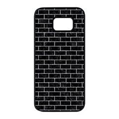 Brick1 Black Marble & Gray Marble Samsung Galaxy S7 Edge Black Seamless Case