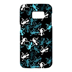 Cyan lizards pattern Samsung Galaxy S7 Hardshell Case
