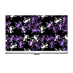 Purple Lizards Pattern Business Card Holders
