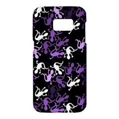 Purple lizards pattern Samsung Galaxy S7 Hardshell Case
