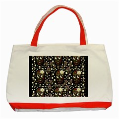 Floral Skulls With Sugar On Classic Tote Bag (red)
