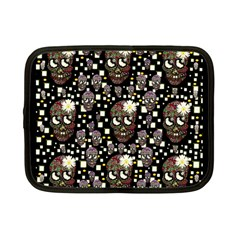Floral Skulls With Sugar On Netbook Case (small)