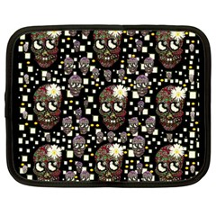 Floral Skulls With Sugar On Netbook Case (xxl)
