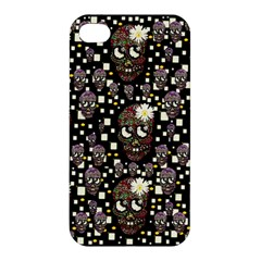 Floral Skulls With Sugar On Apple Iphone 4/4s Premium Hardshell Case