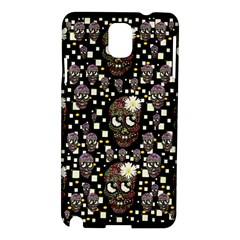 Floral Skulls With Sugar On Samsung Galaxy Note 3 N9005 Hardshell Case