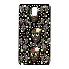 Floral Skulls With Sugar On Samsung Galaxy Note 3 N9005 Hardshell Back Case