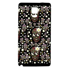 Floral Skulls With Sugar On Galaxy Note 4 Back Case