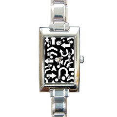 Right Direction Rectangle Italian Charm Watch