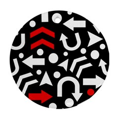 Right direction - red Ornament (Round)