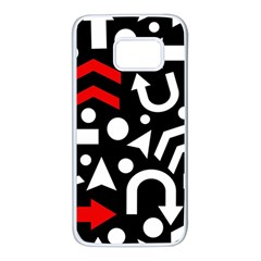 Right direction - red Samsung Galaxy S7 White Seamless Case