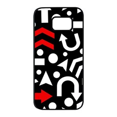 Right direction - red Samsung Galaxy S7 edge Black Seamless Case