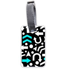 Right direction - cyan Luggage Tags (One Side)