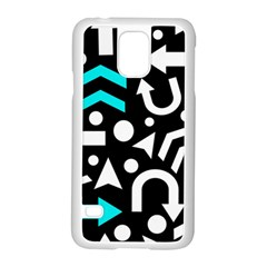Right Direction   Cyan Samsung Galaxy S5 Case (white)