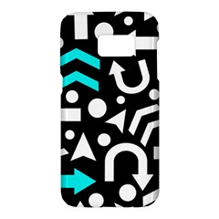 Right Direction   Cyan Samsung Galaxy S7 Hardshell Case
