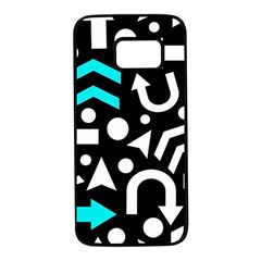 Right direction - cyan Samsung Galaxy S7 Black Seamless Case