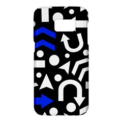 Right direction - blue  Samsung Galaxy S7 Hardshell Case