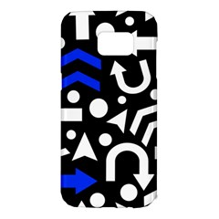 Right direction - blue  Samsung Galaxy S7 Edge Hardshell Case