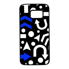 Right direction - blue  Samsung Galaxy S7 Black Seamless Case