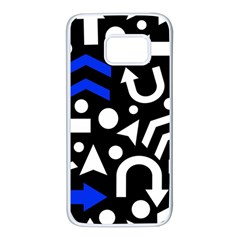 Right direction - blue  Samsung Galaxy S7 White Seamless Case