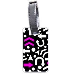 Right direction - magenta Luggage Tags (One Side)