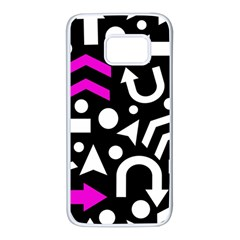 Right direction - magenta Samsung Galaxy S7 White Seamless Case