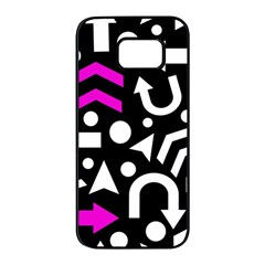 Right direction - magenta Samsung Galaxy S7 edge Black Seamless Case