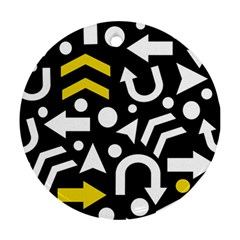 Right direction - yellow Ornament (Round)
