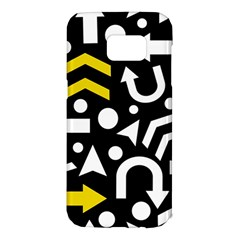 Right direction - yellow Samsung Galaxy S7 Edge Hardshell Case