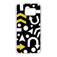 Right direction - yellow Samsung Galaxy S7 White Seamless Case