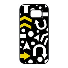 Right direction - yellow Samsung Galaxy S7 edge Black Seamless Case