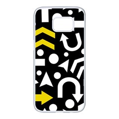 Right direction - yellow Samsung Galaxy S7 edge White Seamless Case