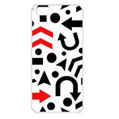 Red Right Direction Apple Iphone 5 Seamless Case (white)