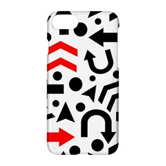 Red Right Direction Apple Iphone 7 Hardshell Case