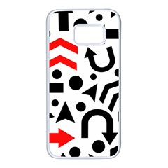 Red right direction Samsung Galaxy S7 White Seamless Case