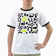 Yellow Right direction  Ringer T-Shirts
