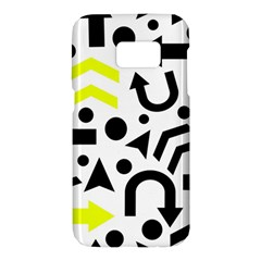Yellow Right direction  Samsung Galaxy S7 Hardshell Case