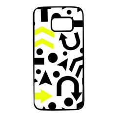 Yellow Right direction  Samsung Galaxy S7 Black Seamless Case