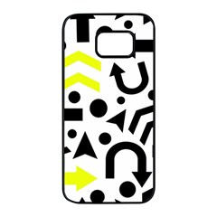 Yellow Right direction  Samsung Galaxy S7 edge Black Seamless Case