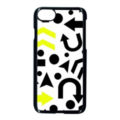 Yellow Right Direction  Apple Iphone 7 Seamless Case (black)