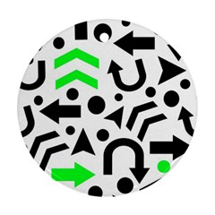 Green right direction  Ornament (Round)