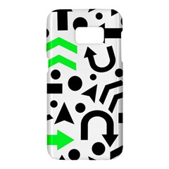 Green right direction  Samsung Galaxy S7 Hardshell Case