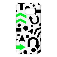 Green right direction  Samsung Galaxy S7 Edge Hardshell Case