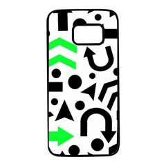 Green Right Direction  Samsung Galaxy S7 Black Seamless Case