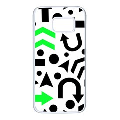 Green right direction  Samsung Galaxy S7 White Seamless Case