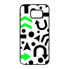 Green right direction  Samsung Galaxy S7 edge Black Seamless Case