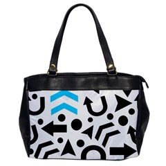 Cyan Right Direction Office Handbags