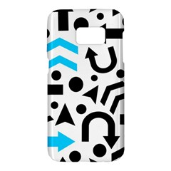 Cyan right direction Samsung Galaxy S7 Hardshell Case